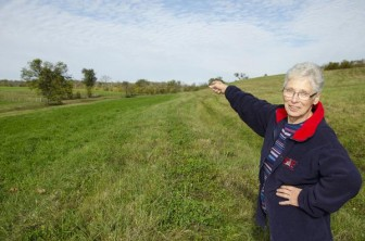 In late October, Vivian House pointed to areas where the pipeline developers surveyed her 85-acre cattle and hay farm for the proposed Bluegrass Pipeline.