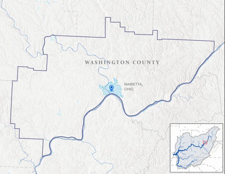Map of Marietta, Ohio